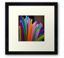 Playing with colours Framed Print