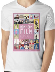Rom Com Film Alphabet Mens V-Neck T-Shirt