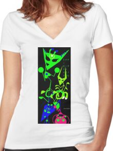 Alien Rumba Women's Fitted V-Neck T-Shirt