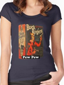 Buck Pew Pew  Women's Fitted Scoop T-Shirt
