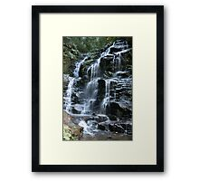 Sylvia Falls - Blue Mountains - Australia Framed Print