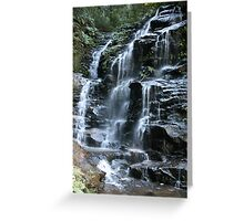 Sylvia Falls - Blue Mountains - Australia Greeting Card