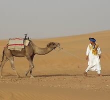 A Berber and his Camel by Vanilla Sky