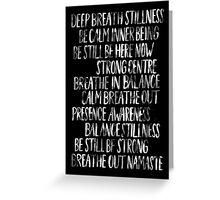 Namaste (Black) Greeting Card