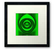 Green tunnel Framed Print