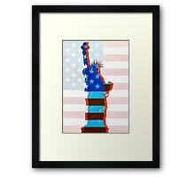 Statue of liberty / USA Framed Print
