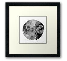 Alienated Moon Framed Print