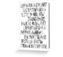 Namaste (White) Greeting Card