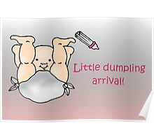Diddle, diddle, dumpling baby card Poster