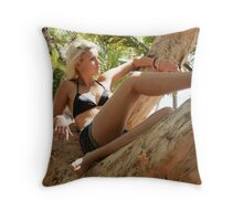 Paperbark Series - Sea View Throw Pillow