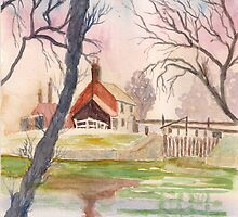 The lock Keeper's Cottage by GEORGE SANDERSON