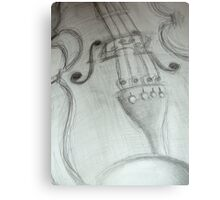 violin pencil sketch © 2009 patricia vannucci Metal Print