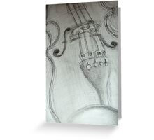 violin pencil sketch © 2009 patricia vannucci Greeting Card