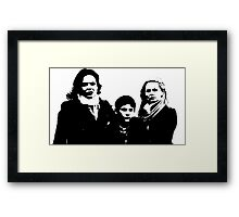 Swan-Mills Family Framed Print