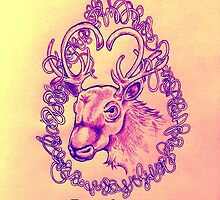 """I caribou you"" romantic caribou for valentines day by daleymilk"