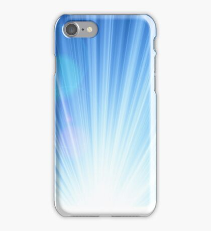 Blue shining magic iPhone Case/Skin