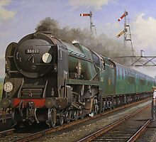 Merchant Navy pacific at Brookwood by Mike Jeffries
