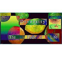 Diversity,Fruit of Life Photographic Print