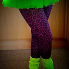 TuTu, Leopard Print and Neon by Karen  Betts