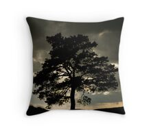 Dark Silhouette Throw Pillow