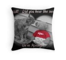 We're Moving Throw Pillow