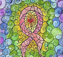 Breast Cancer Ribbon stained glass design by InKibus