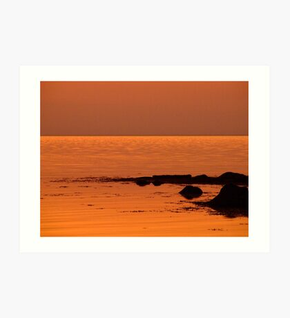 Under The Red Sky Art Print