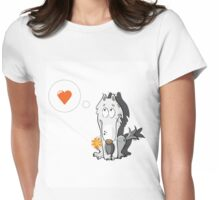 Wolf in love. Womens Fitted T-Shirt