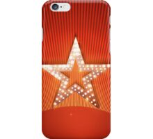 Light star on red background iPhone Case/Skin