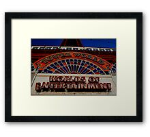 Blackpool: A World of Entertainment...for the wrong resons. Framed Print