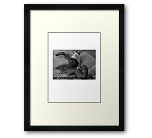 Scarface - Say goodnight to the bad guy Framed Print