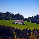 A farm, blue sky and some panorama   landscape photography by Patrick Jobst