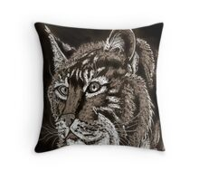 A Bobcat's Stare Throw Pillow