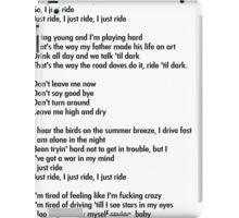 """Lana Del Rey """"Ride"""" Lyrics iPad Case/Skin"""