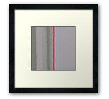 the border Framed Print