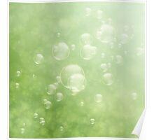 Soap bubbles Poster