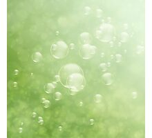 Soap bubbles Photographic Print