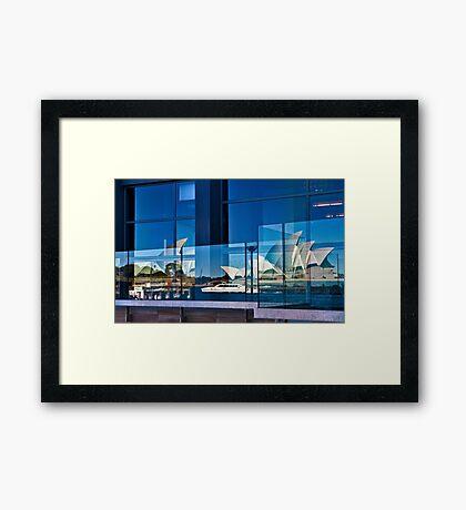A Double Reflection on Sydney Opera House #3 - Australia Framed Print