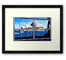 A Reflection on Sydney Opera House - Australia Framed Print