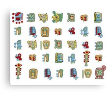 New Mayan Heirglyphs Canvas Print