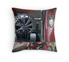 Indian Motorcycle Collage Throw Pillow