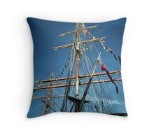 Tall Ships (5) ... Look Mummy No Hands! Throw Pillow