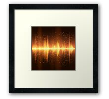 Equalizer background Framed Print