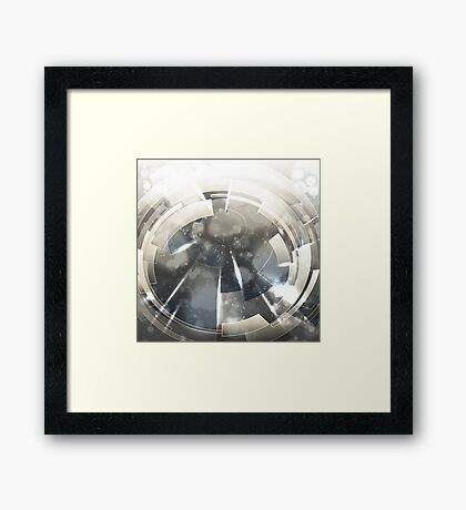 Abstract technology background. Framed Print