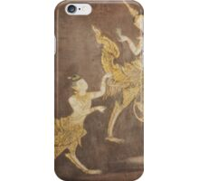 Thai Golden Kinnaree (Half Woman - Half Bird) and Golden Kinnorn (Half Man - Half Bird) iPhone Case/Skin