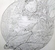 Kingfisher and friends. by Robert David Gellion