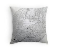 Kingfisher and friends. Throw Pillow