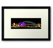 Sydney Opera House & Harbour Bridge - Vivid Festival Framed Print