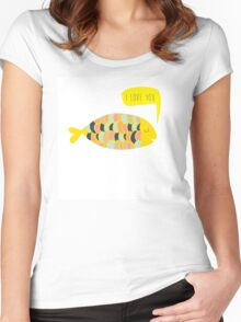 """i love you"" fish - matches with ""i know"" fish Women's Fitted Scoop T-Shirt"