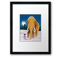 Woolly Mammoth Dream Framed Print